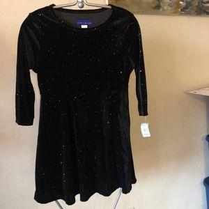 Black Shiny Girl Dress